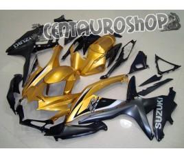 Carena in ABS Suzuki GSX-R 600 e 750 08-09 colorazione BLACK & GOLD