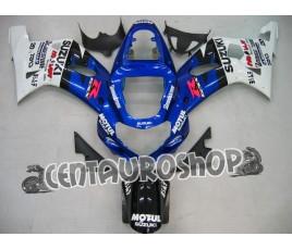 Carena in ABS Suzuki GSX-R 1000 00-02 colorazione SILVER & BLUE