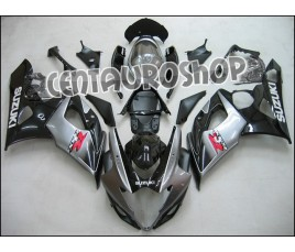Carena in ABS Suzuki GSX-R 1000 05 06 Silver & Black