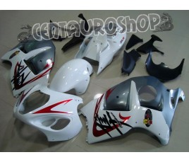 Carena in ABS Suzuki GSX-R 1300 Hayabusa 99-07 White & Silver 2