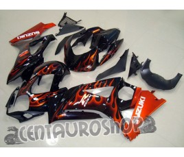 Carena ABS Suzuki GSXR 1000 07 08 colorazione Black & Flames