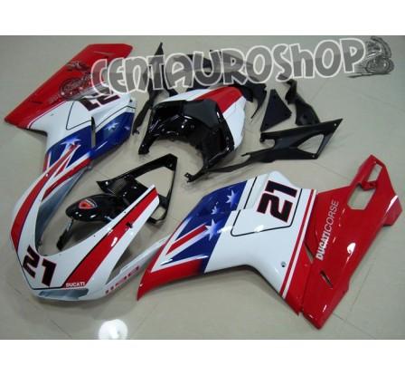 Carena in ABS Ducati 848 1098 1198 colorazione Xerox 21 B