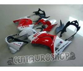 Carena ABS Kawasaki Ninja 250 08-09 Japan SBK rosso e bianco
