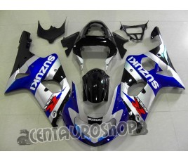 Carena in ABS Suzuki GSX-R 1000 00-02 Silver & Blue