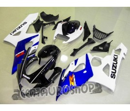 Carena in ABS Suzuki GSXR 1000 2005 2006 White & Blue