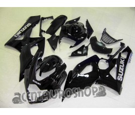 Carena Suzuki GSX-R 1000 05-06 All Black adesivi argento
