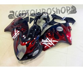 Carena in ABS Suzuki GSX-R 1300 Hayabusa 99-07 Red Flames