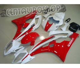 Carena Yamaha ABS YZF 600 R6 2006 2007 Red & White 1