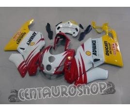 Carena in ABS Ducati 749 999 2003 2004 bianco rosso e giallo