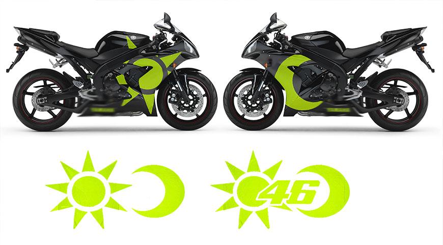 Disegno personalizzato carene in abs per moto