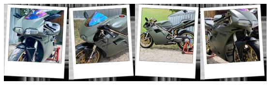 Carena in ABS per Ducati 916 verde militare personalizzata