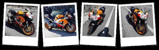 Carena in abs per Honda CBR900RR Fireblade Repsol replica Moto GP