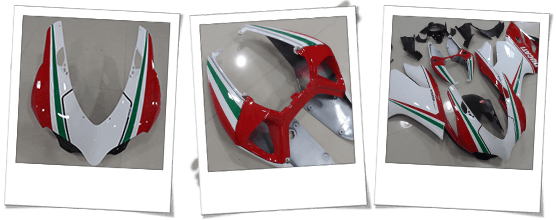 Carena in abs per Ducati 1199 Panigale tricolore