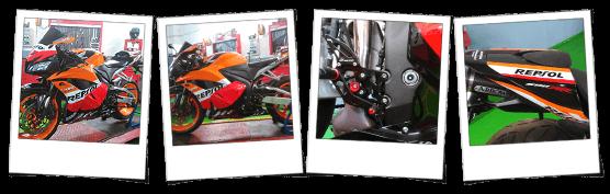 Carena in abs per Honda CBR 600 RR 2009 2012 personalizzata