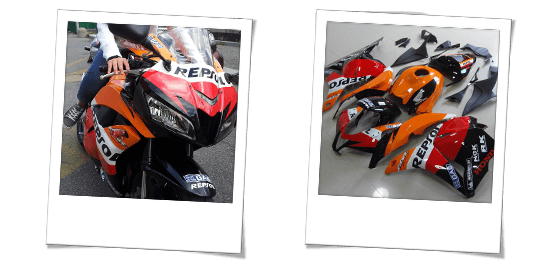 commento per la carena in abs per honda cbr 600 rr repsol