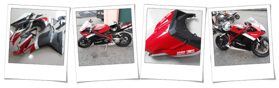 Carena in abs per Ducati 1098